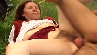 Hairy Mature Fucked In The Grass