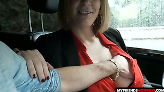 Fantastic Huge Boobed MILF Sara Jay Gives Titjob And Enjoys Doggy