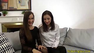 Two Horny Teens Love Huge Cocks