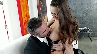 Elder Dude Fucks Graceful Chick With Juicy Boobs Abigail Mac And Cums In Her Opened Mouth
