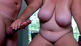 BBW Wife Makes Me Cum Quick And Hard, Then Has An Orgasm On Top Of Me.