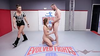 Stephie Staar In Nude Wrestling Battle Fights For A Fucking
