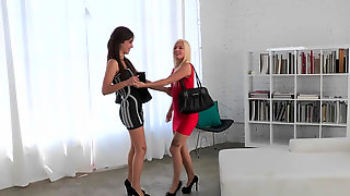 Jessie Volt And Malena Morgan Munch On Each Others Sweet Pussies And Assholes