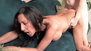 Dude Cums On Milf Ass And Keeps Fucking Her