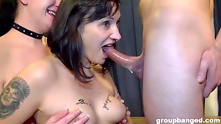 Inked Teen And Mature Whores Filled With Dicks In A Group Sex Session