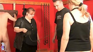 Mature On A Leash Brought To The Dungeon