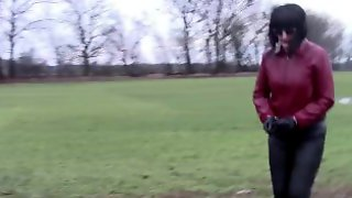 Wellies, Leather Leggings ... Walk And Pissing