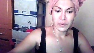 Real Filipina Hermaphrodite Skype Show #4