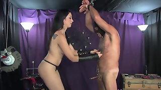 Mistress January Cock Biting Dominatrix