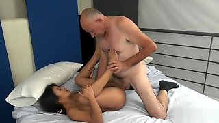 68yo Grandpa With 8 Cock Fucks Teen