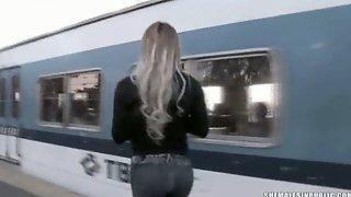 Tranny Jizzed On In A Train