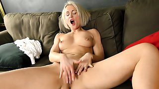 Short Haired Mature Plays With Her Horny Snatch