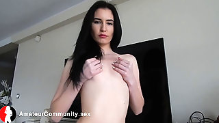 Brunette, Clit, Webcam Masturbation