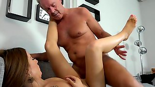 Young Kate Gets Her Hands On A Senior Cock