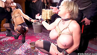 Milf And Ebony Anal Fucked At Orgy Party