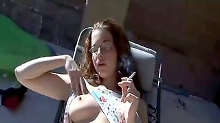 This Hot Masturbator Is Out Of This World Naughty And She Likes To Smoke