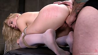 Hot Fine Ass Blonde Is Taught The Pleasure Of Bondage Submission