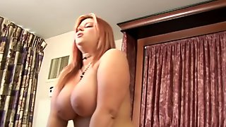 Huge Titted MILF Fucking Her Skinny Cousin