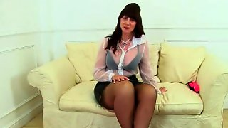 Scottish Milf Toni Lace Puts Her Dildo Collection To Good Use