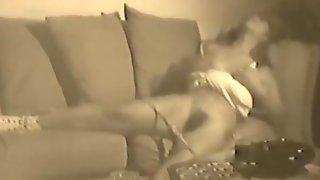 Vintage Leilani Caught Masturbating Hidden Cam