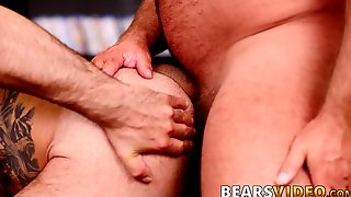 Papa Bear Sucking Cubs Big Cock And Fucking His Tight Ass