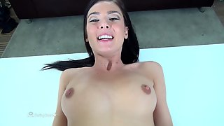 Slender Canadian Babe Takes Big Meaty Shlong In Her Butthole