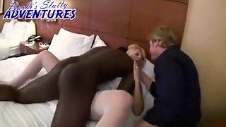 Blonde Interracial In Hotel Room