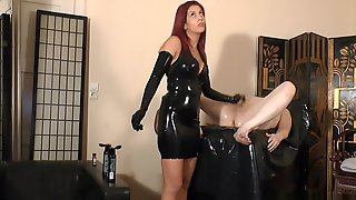 Handjob With Latex Gloves
