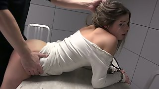 Instigation Room Is Filled With Moans Of Lusty Sarah Smith Riding Cops Cock