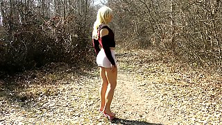 Loli Whore Fashion Show In The Forest