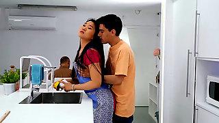 Asian Nympho Katana Seducing Her Younger Stepbrother