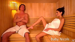 Raven Haired Cowgirl Baby Nicols Sensually Rides Fat Prick On Top