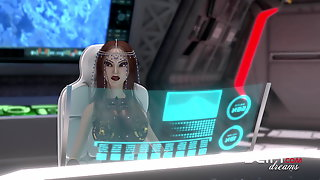 Hot 3d Dickgirl Fucks Sexy Black Tranny In The Space Station