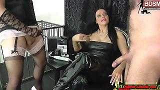 Slave And Tranny Masturbation Contest For German Domina