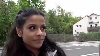 Cute Latina Sandra Soul Gives A Blowjob And Gets A Big Cock