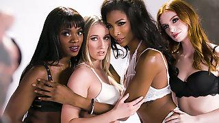 Transgender Lingerie Model Does It With A Nice Ebony Girl -