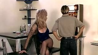 Busty TS Milf In Pantyhose Wants An Anal