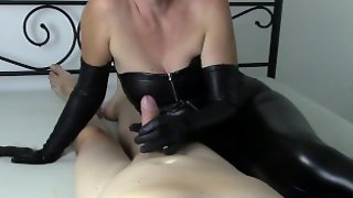 Milking A Husband In Long Leather Gloves 2 (SAMPLE)