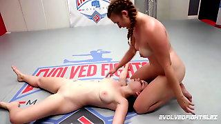 Anastasia Rose Lesbian Wrestling Against Stephie Staar