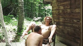 Fucking Hot Redhead In The Woods Part 3