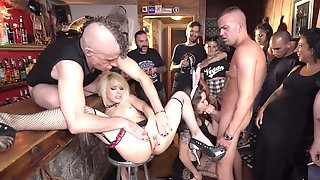 Fruity Happy Hour - Nora Barcelona Brutal Public Gangbang