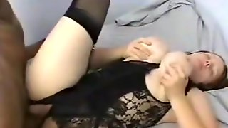 Busty Chick Used By Two Old Men