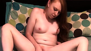 Redhead Slut Toys And Cums For You Amateur Homemade