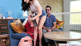 Very Bad Girl Ariana Marie Seduces Her Handsome Teacher Johnny Castle