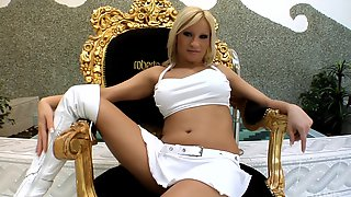 Hot Blonde Ginna Brigitta Likes To Suck Two Strong Dicks At The Same Time