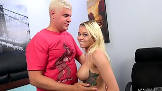 Marsha May Enjoys A Vibrator On Her Cunt Before Hard Sex With A Friend