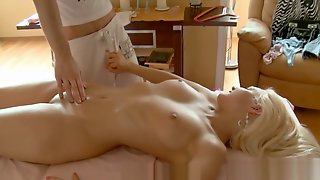Toy Playing During Massage