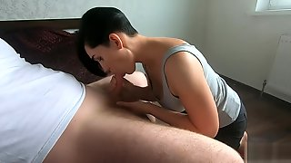 Catch Mom Giving A Blowjob To Her Stepson