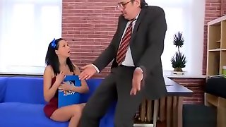 Sultry College Girl Is Teased And Pounded By Her Older Teach