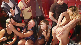 Slave Fisted And Screwed On A Bar In Public
